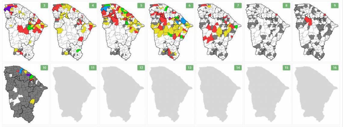 Redução gradual de chuvas no Ceará se dá pela posição da ZCIT, mais afastada do Nordeste brasileiro