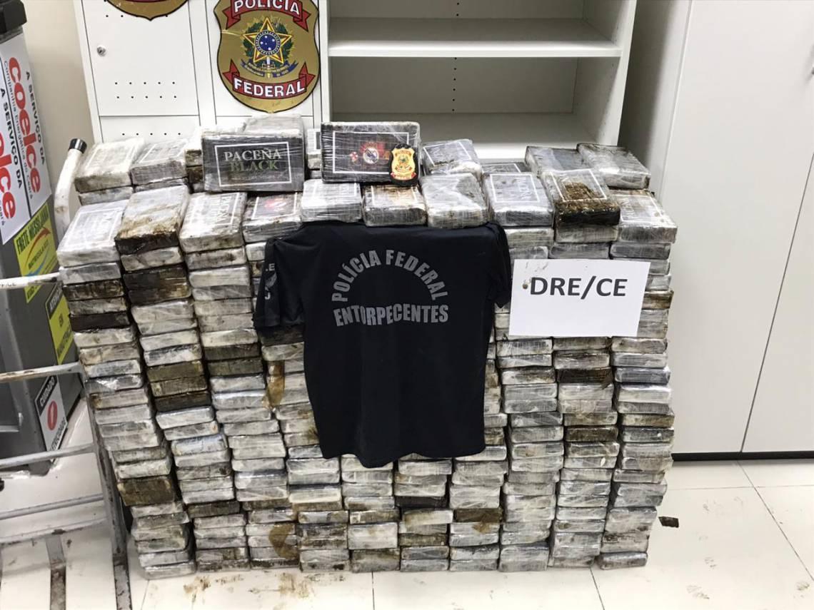 540 quilos de cocaína estavam em tabletes dentro de sacos
