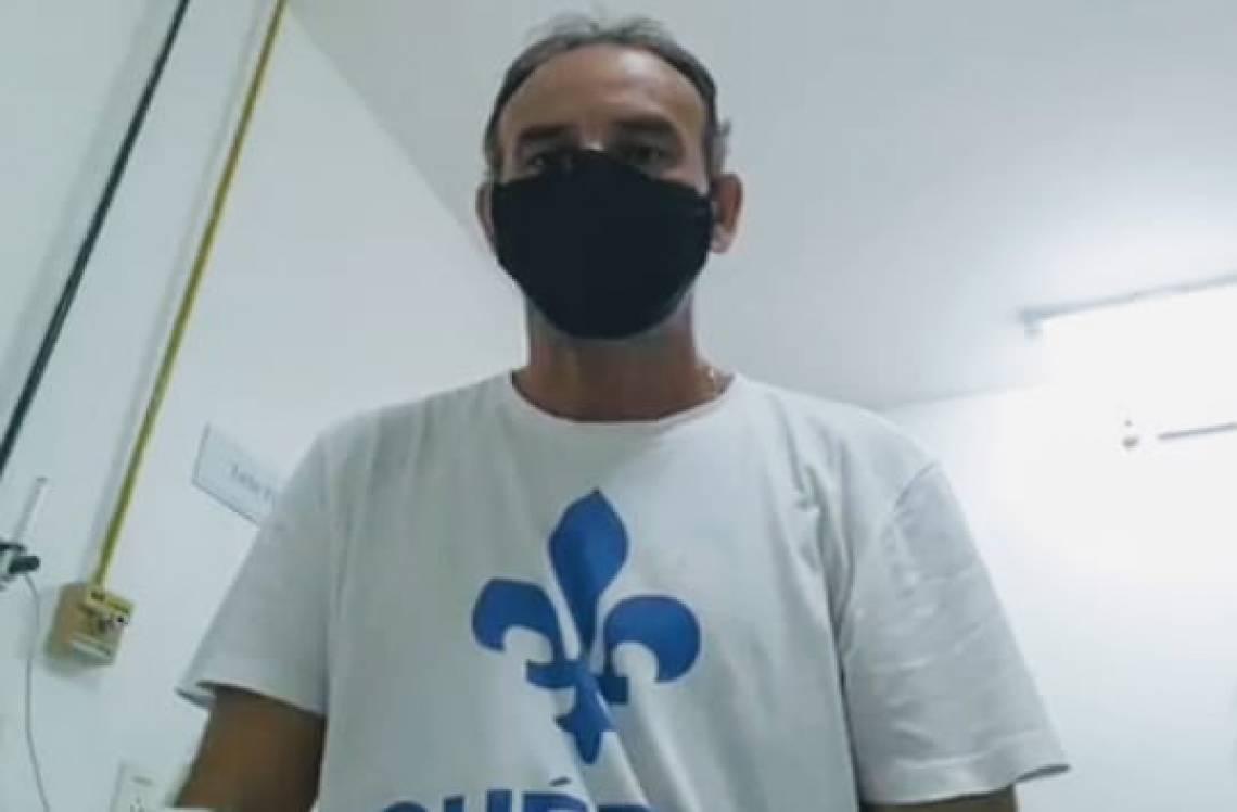 Márcio Araújo está internado há dois dias e recebe tratamento para a falta de oxigênio