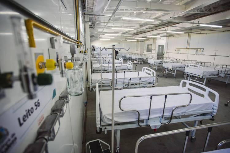 Hospital de Campanha do Estádio Presidente Vargas, em Fortaleza (Foto: Aurelio Alves/O POVO)