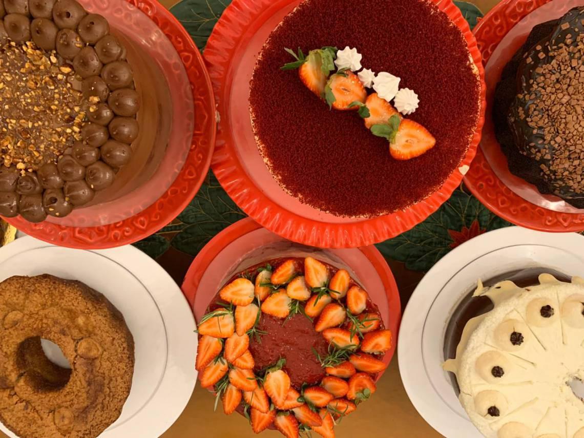 No total, são doze sabores de bolos que compõem a promoção do Mercado do Café