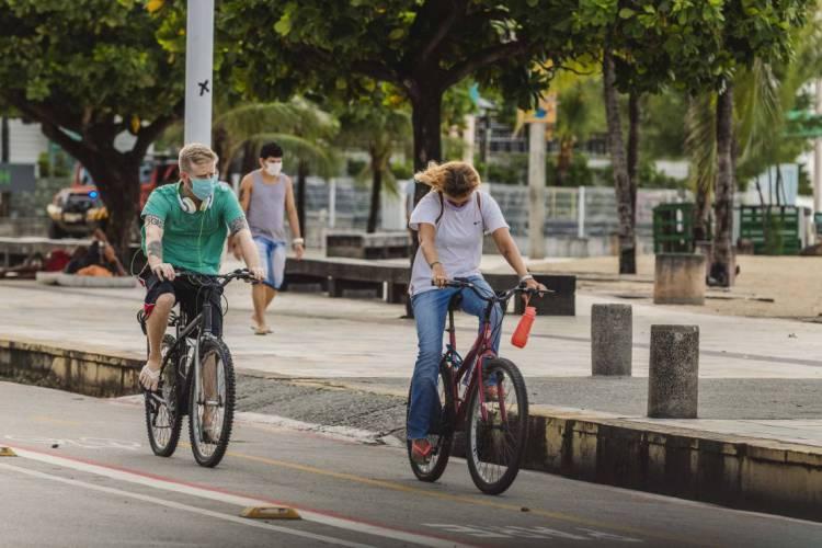 Atualmente, a Capital conta com 307,5 quilômetros de vias exclusivas para ciclistas. (Foto: Aurelio Alves/O POVO)