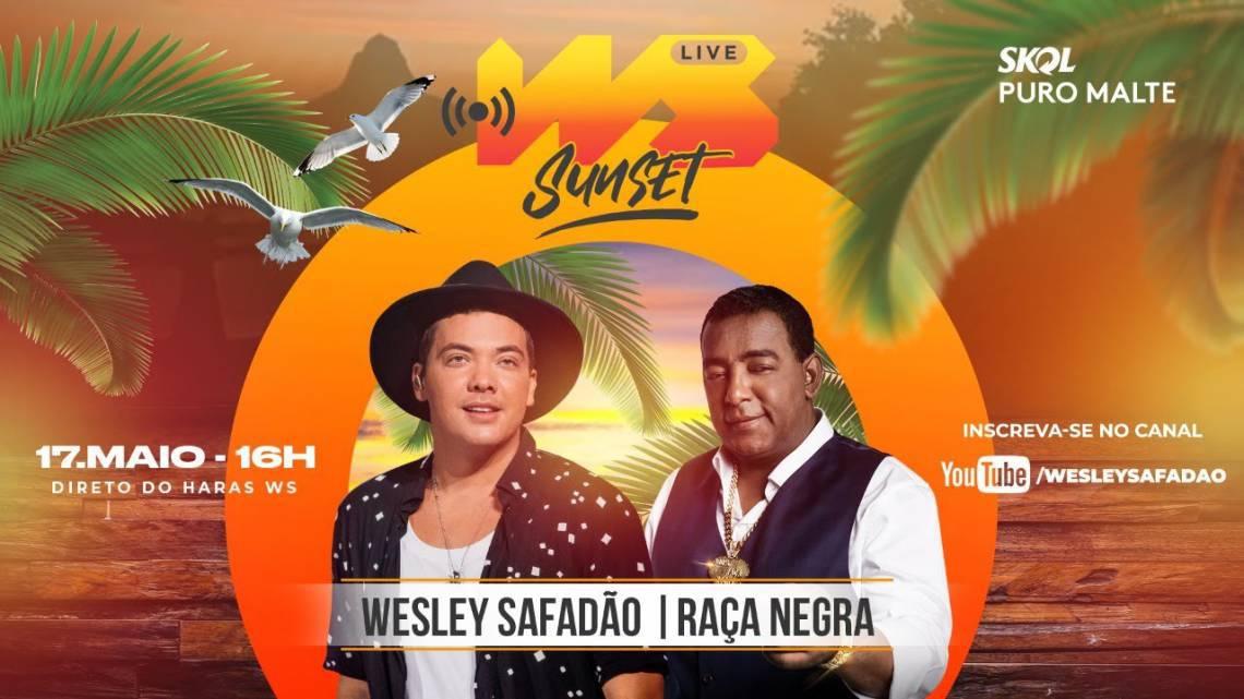 Acompanhe a agenda de transmissões ao vivo online - live - de artistas nacionais e internacionais para hoje, domingo, 17 de maio (17/05); live de Wesley Safadão e Raça Negra é uma das atrações da noite