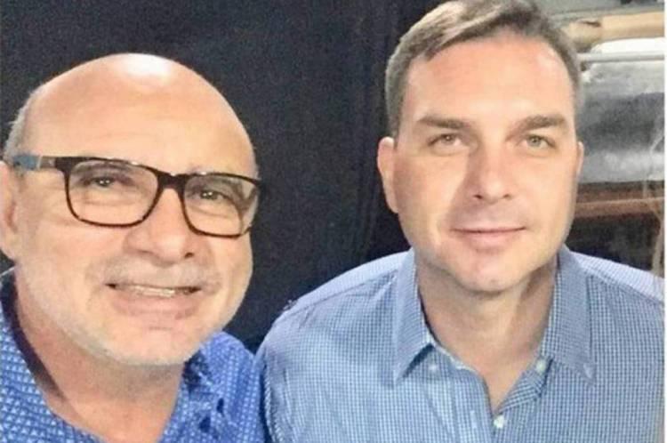 Fabrício Queiroz e Flávio Bolsonaro