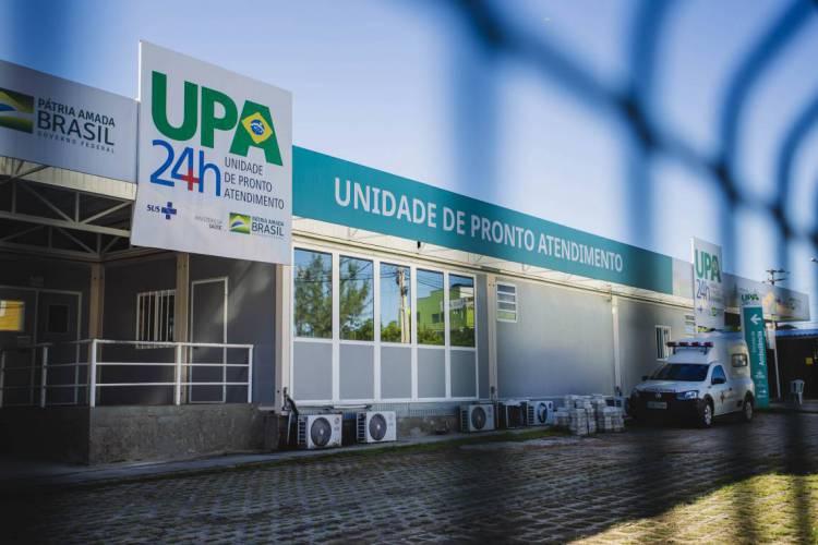 FORTALEZA, CE, BRASIL, 17-05-2020: UPA do Bairro Jangurussu, movimentação em epoca de COVID-19. (Foto: Aurelio Alves/O POVO) (Foto: Aurelio Alves/O POVO)