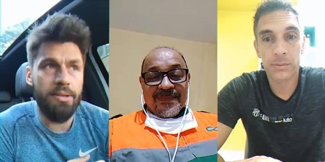 Rafael Sobis e Fernando Prass participaram de ação com torcedor que se recuperou da covid-19