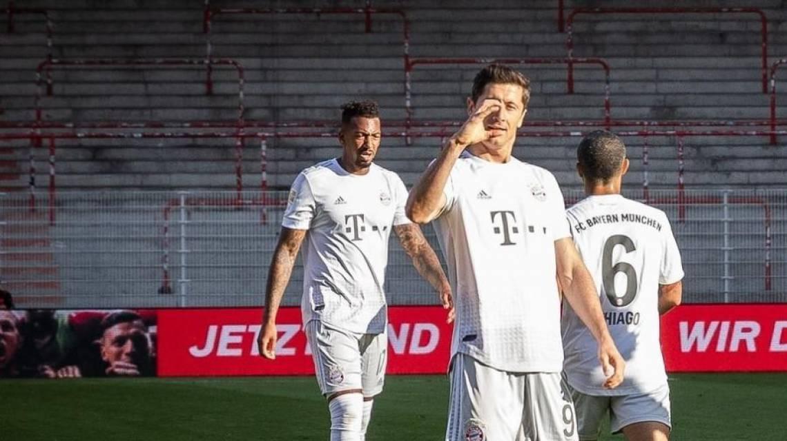 Lewandowski abriu o placar para o Bayern diante do Union Berlim