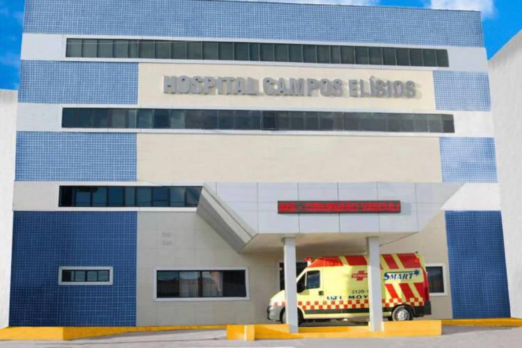 Fachada do hospital Campos Elísios, em Maracanaú (Foto: Divulgação)
