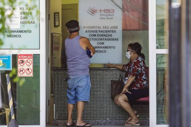 Hospital São José começa a receber outras demandas depois de atender quase exclusivamente Covid-19 (Foto: Aurelio Alves/O POVO) (Foto: Aurelio Alves/O POVO)