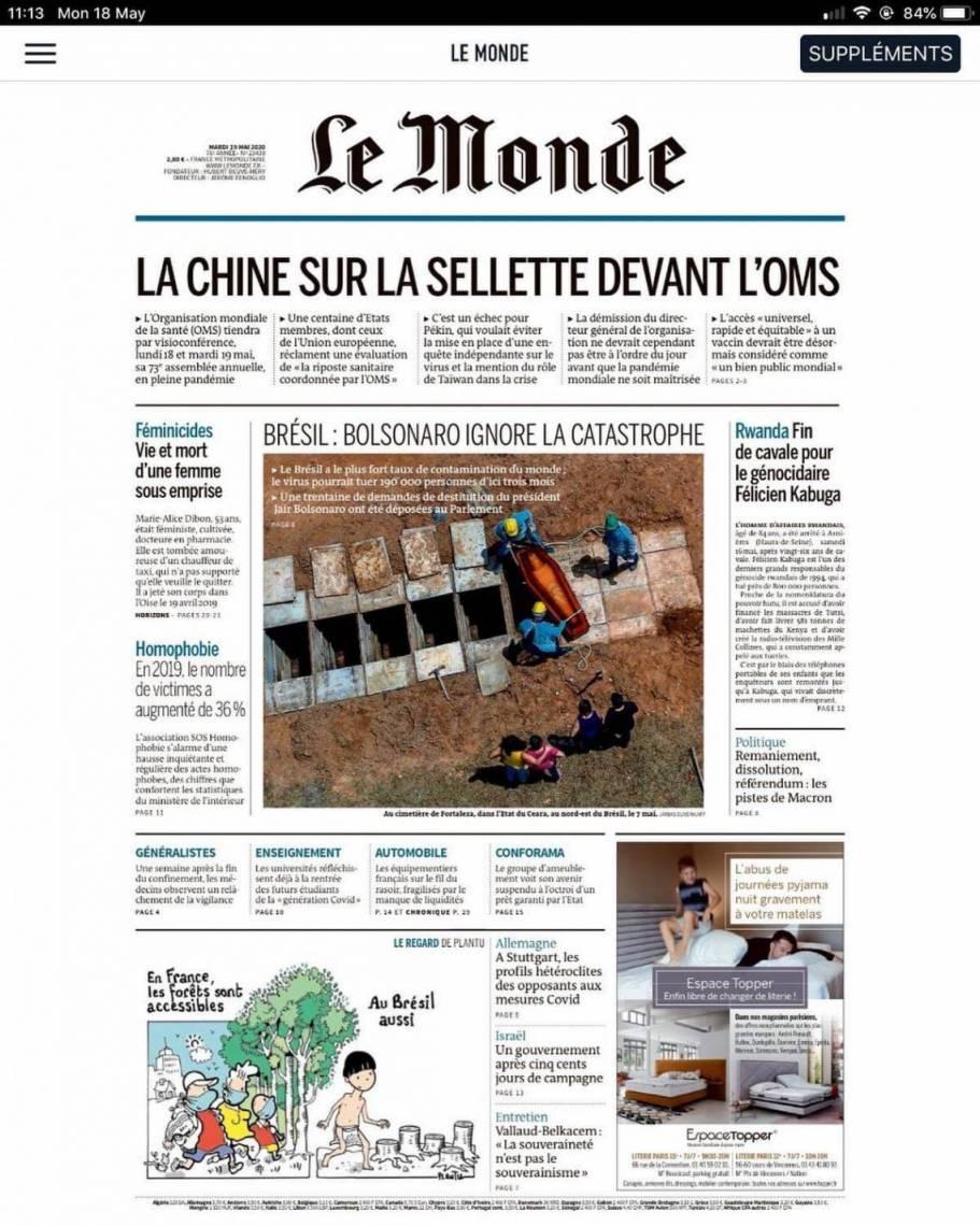 Capa do jornal francês tem foto de Fortaleza, assinada pelo fotógrafo Jarbas Oliveira