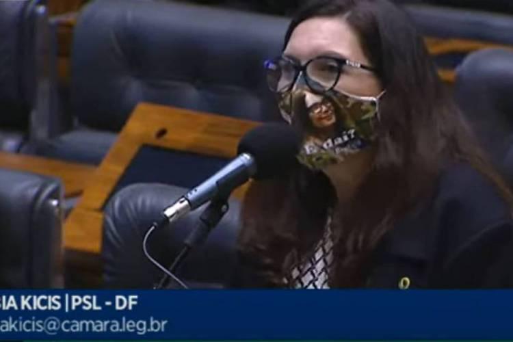 Deputada federal bolsonarista Bia Kicis  (Foto: Reprodução/TV Câmara )