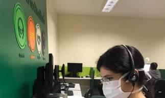 Ana Laís é uma das 28 médicas(os) que atuam no setor de médicos comunicadores, responsável pela atualização a familiares sobre quadro clínico de pacientes com Covid-19. (Foto: Divulgação/Unimed) (Foto: Foto: Divulgação/Unimed)