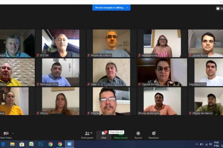 Reunião da Mesa Diretora com o colegiado da CMFor definiu pela suspensão do recesso nesta sexta-feira, 22 (Foto: Reprodução)