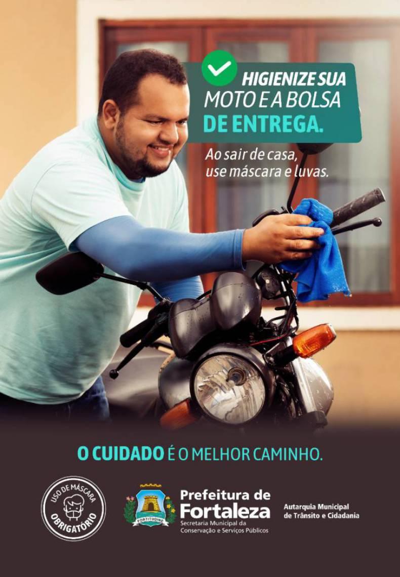 O motoboy de aplicativo José Diego Silva Sampaio é o protagonista da campanha