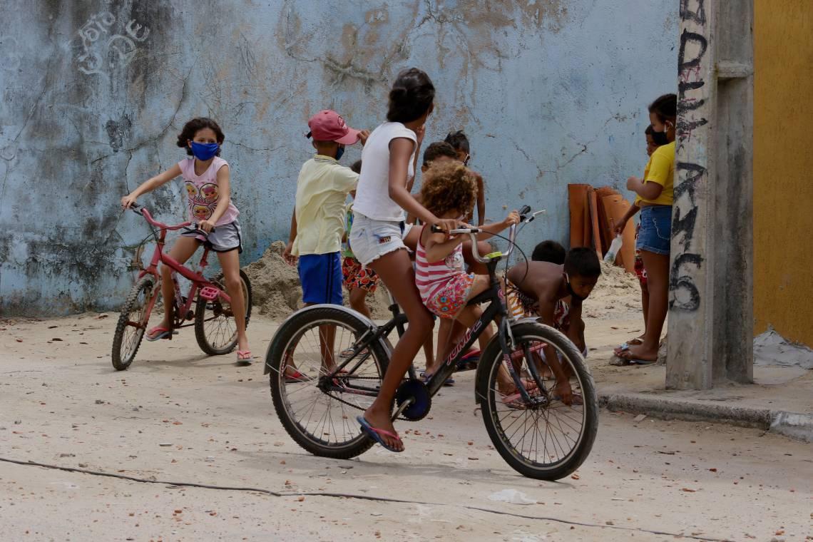Comunidade do Titanzinho durante epidemia de coronavírus em Fortaleza (Foto: Fábio Lima / O POVO) (Foto: Fábio Lima)