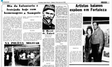 Publicação do dia 24 de maio de 1975, comemorações da Polícia Militar do Ceará