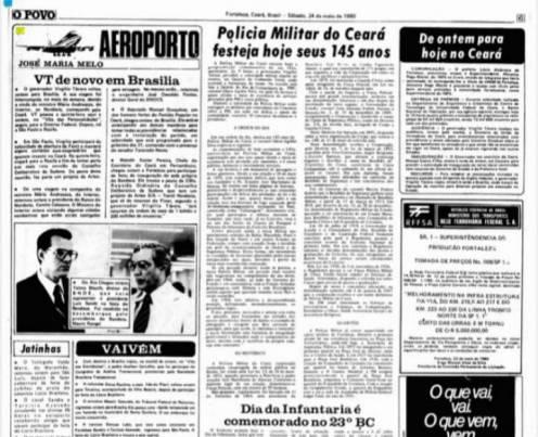 Comemorações da Polícia Militar do Ceará durante o longo dos seus 185 anos