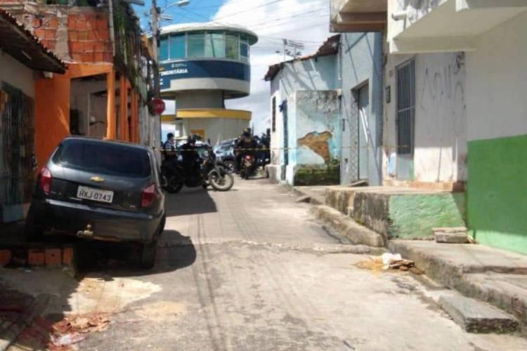 O caso foi registrado nas proximidades de uma torre da Guarda Municipal  (Foto: via WhatsApp O POVO )