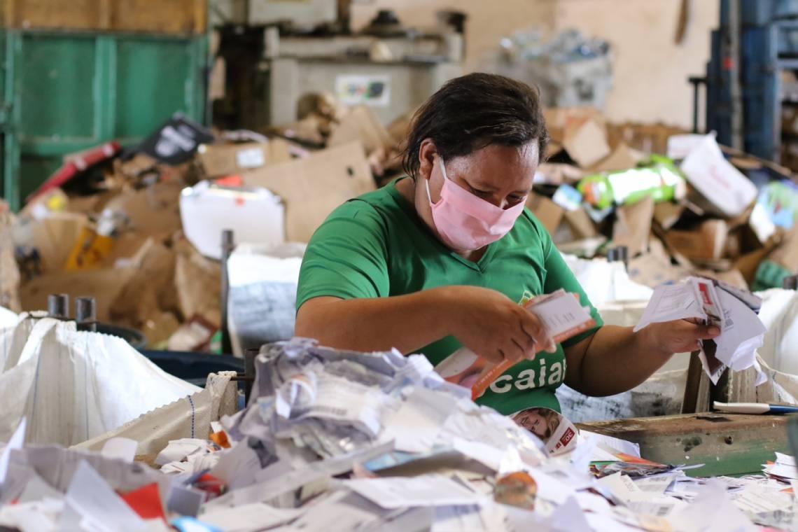 Sebastiana do Carmo Alves, 43, é coordenadora da Associação dos Catadores do Jangurussu