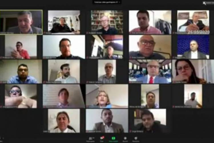 Vereadores deliberam em sessão virtual (Foto: Reprodução/WEB)