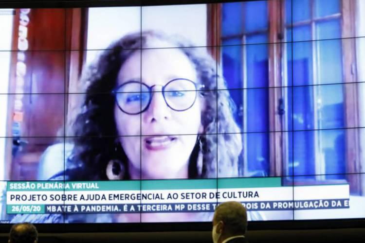 Deputada Jandira Feghali (PCdoB-RJ) foi relatora da Lei de Emergência Cultural (Foto: Divulgação Câmara dos Deputados)