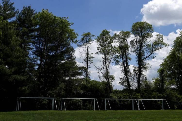 Campo de futebol para treinos em Maryland, nos Estados Unidos (Foto: Patrick Smith/Getty Images/AFP)