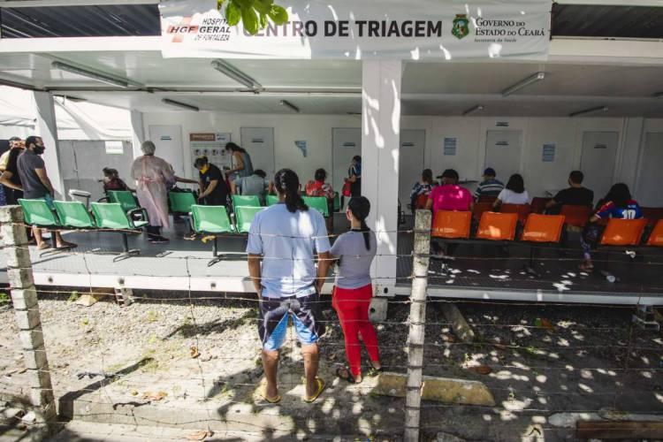 Hospital de Campanha do HGF foi montado com estrutura para 39 leitos de enfermaria. (Foto: Aurelio Alves/O POVO)