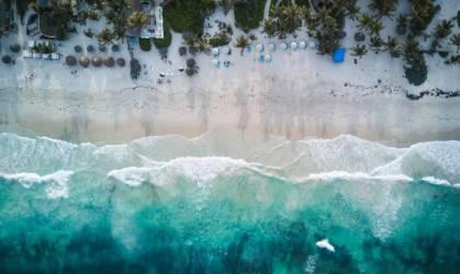 Praia de Tulum, no México
