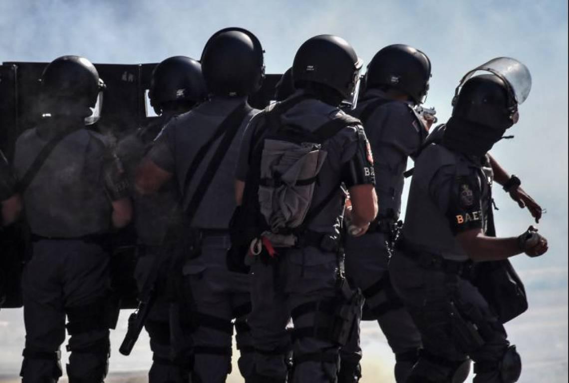 Polícia dispersou parte da manifestação em São Paulo