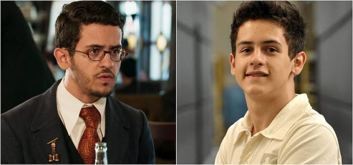 David Lucas como Jack, em Êta Mundo Bão! (esquerda) e como René Júnior, em Fina Estampa (direita)