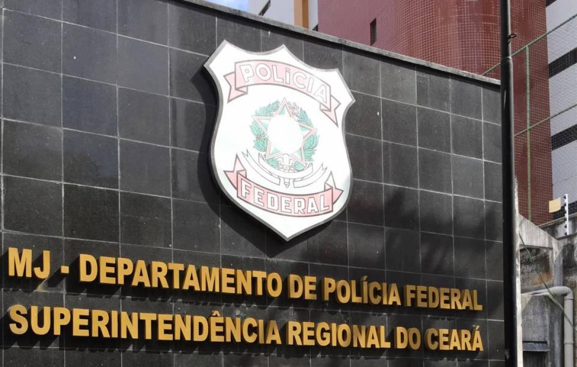 Fachada da sede da PF do Ceará, em Fortaleza