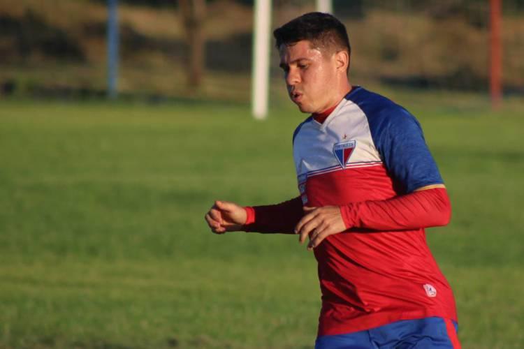 Atacante Osvaldo durante treino do Fortaleza (Foto: Bruno Oliveira/FortalezaEC)