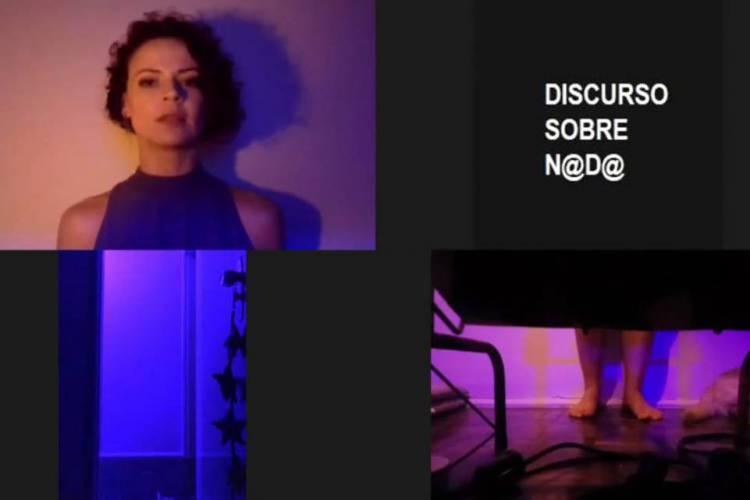 """Alda Pessoa se apresenta em monólogo """"Discurso sobre Nada"""" (Foto: Reprodução)"""