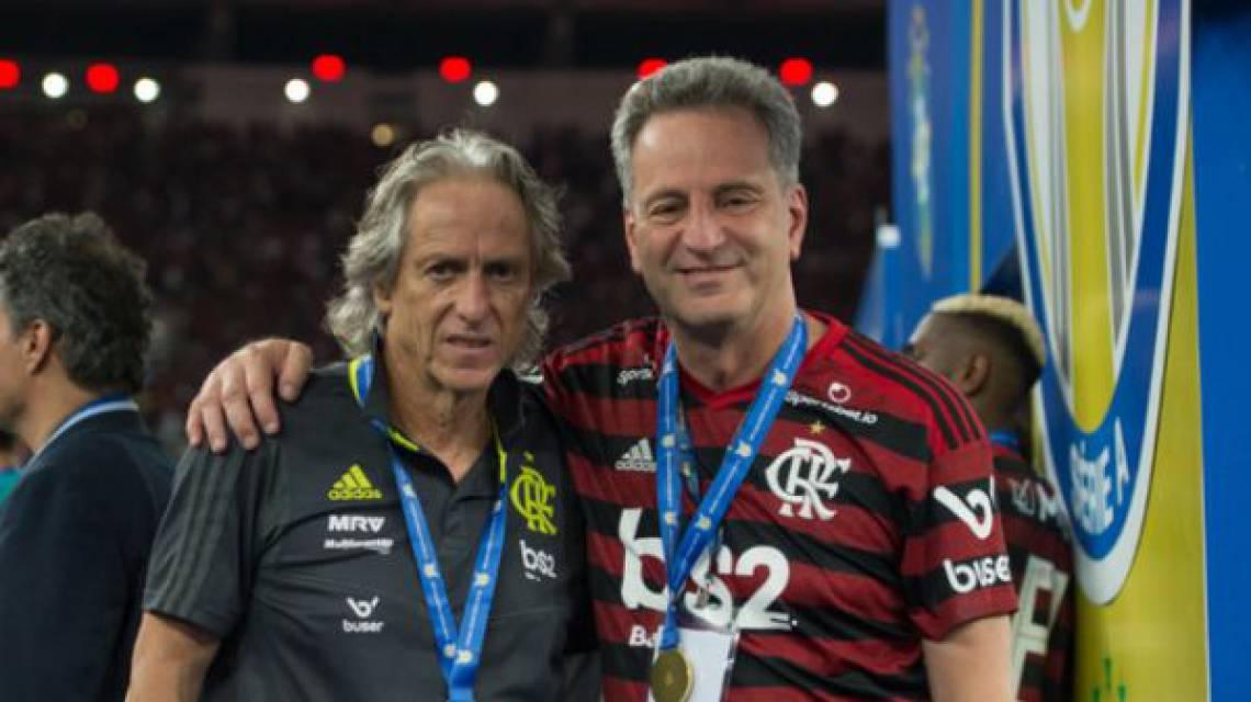 Jorge Jesus renovou até junho de 2021 com Flamengo
