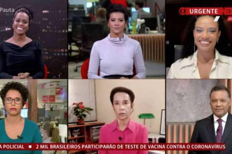 Após críticas, programa Em Pauta contou com seis jornalistas negros  (Foto: Reprodução/Twitter)