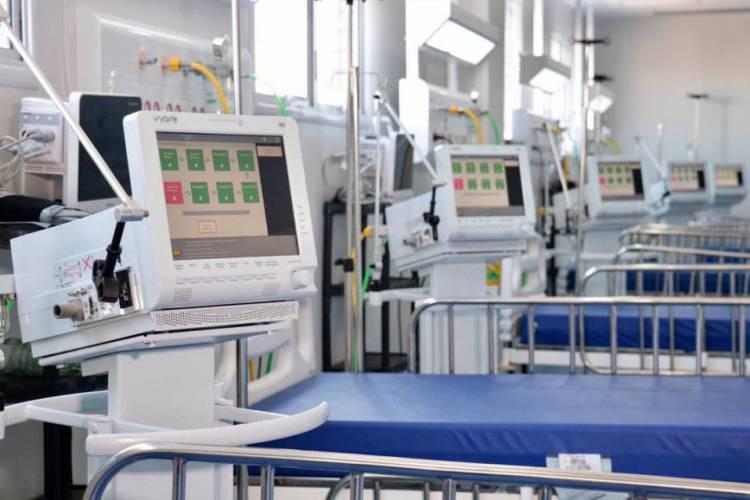 Os leitos de UTI são usados para casos de maior agravamento da Covid-19. (Foto: Divulgação/Prefeitura de Fortaeza)