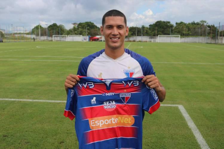 Tiago Orobó, novo atacante do Fortaleza (Foto: BRUNO OLIVEIRA/FORTALEZAEC)