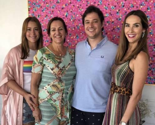 Naiana, Nádia, João e Marcela Cabral