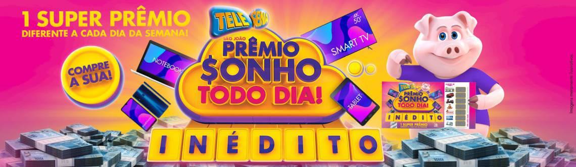 O resultado do primeiro sorteio da Tele Sena de São João 2020 será divulgado na noite de hoje, domingo, 7 de junho (07/06), às 20 horas, pelo SBT (Foto: Divulgação/SBT)