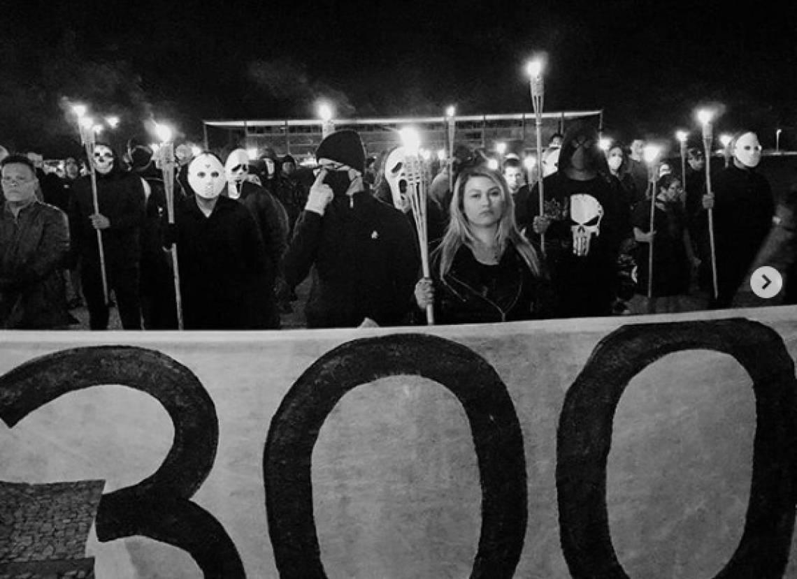 o grupo '300 do Brasil' marchou na capital federal