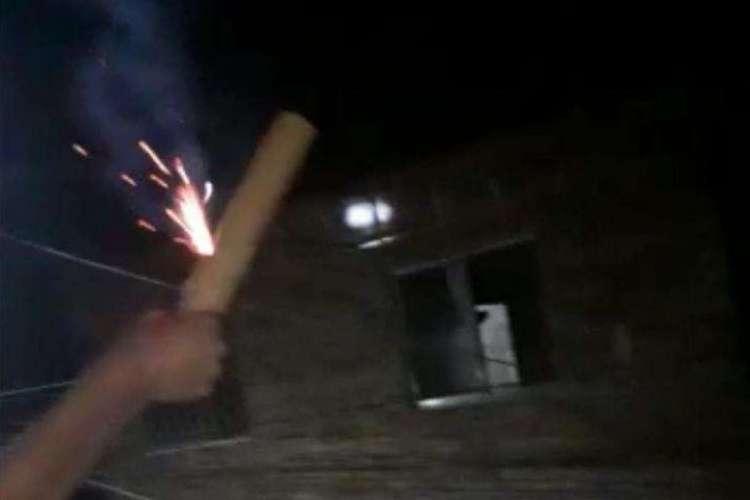 Fogos foram utilizados pelas organizações criminosas em Fortaleza  (Foto: Reprodução)