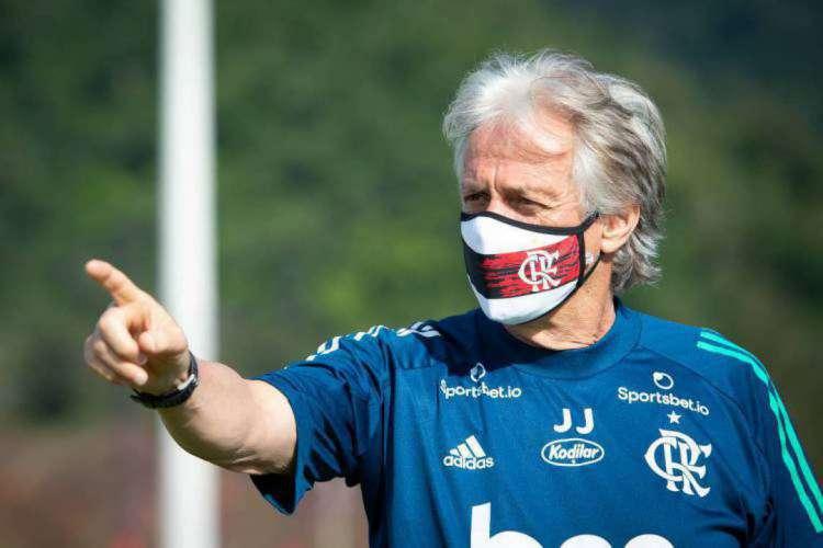 Jorge Jesus birga por mais um título nesta quarta-feira (Foto: Alexandre Vidal/ Flamengo)