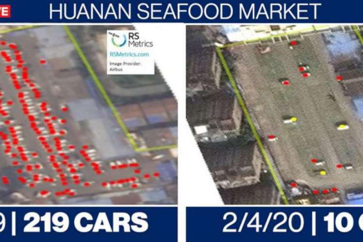 Fotos tiradas de satélites usadas na pesquisa (Foto: Reprodução)