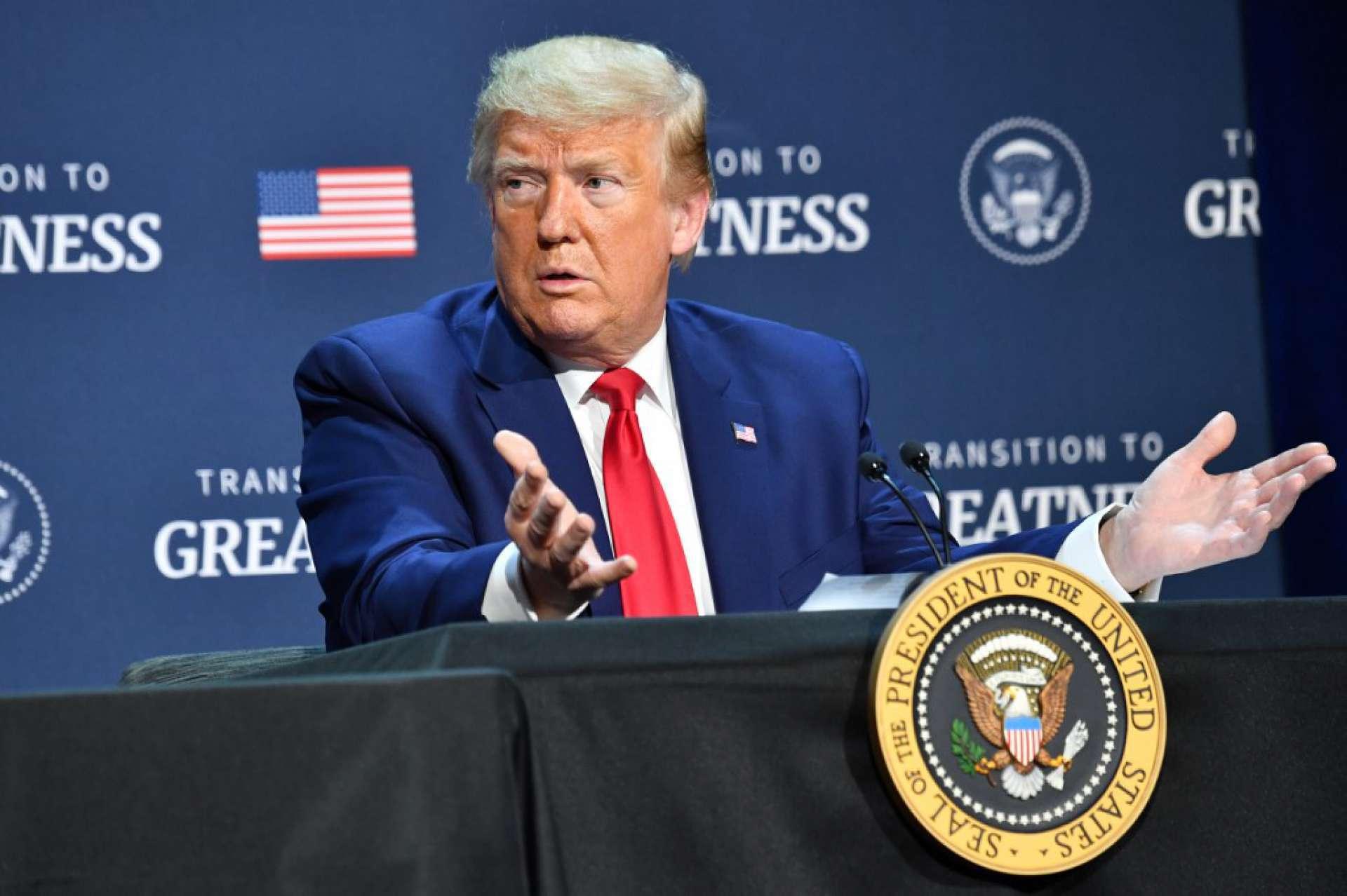 Presidente Donald Trump criticou a Suprema Corte após decisão desfavorável (Foto: Nicholas Kamm / AFP)
