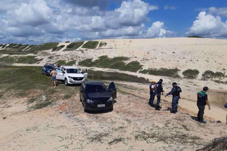CONDUTORES foram autuados neste domingo, 14 (Foto: Divulgação/Prefeitura de Fortaleza)