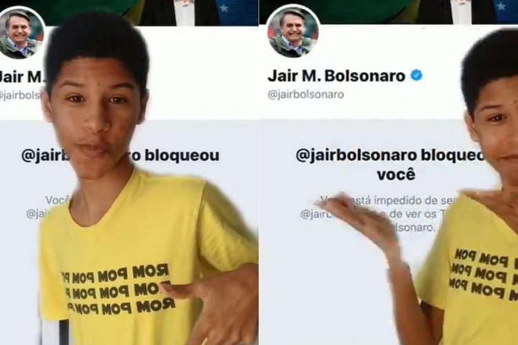 Kaique Brito é famoso nas redes sociais pelas dublagens que faz de político e famosos — entre eles, Jair Bolsonaro (Foto: Reprodução / Twitter)