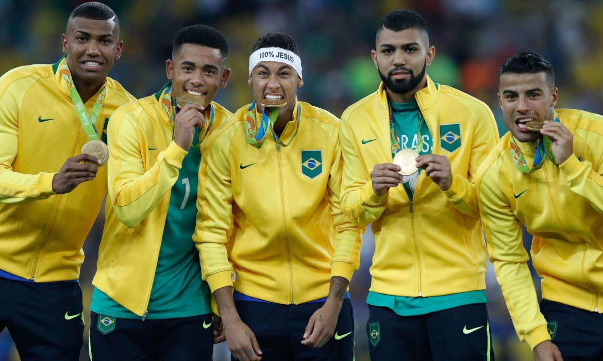 Brasil vence Alemanha e conquista primeiro ouro olímpico do futebol, no Maracanã  (Foto: Fernando Frazão/Agência Brasil)