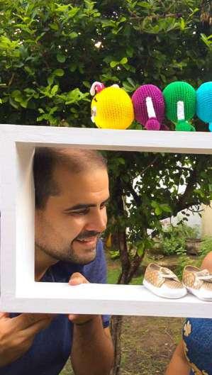 Ensaio precisou ser realizado em casa devido a pandemia (Foto: Reprodução/Germano Pinheiro)