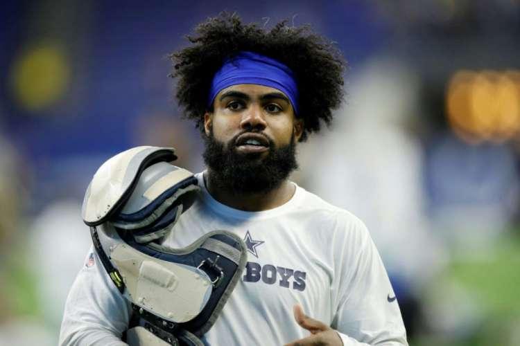 Ezekiel Elliott é astro do Dallas Cowboys e testou positivo para a doença  (Foto: AFP)