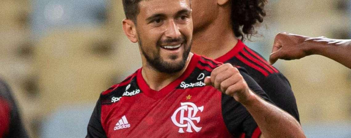 Arrascaeta marcou para o Flamengo contra o Bangu, em jogo que marcou a retomada do Carioca (Foto: Alexandre Vidal / flamengo)
